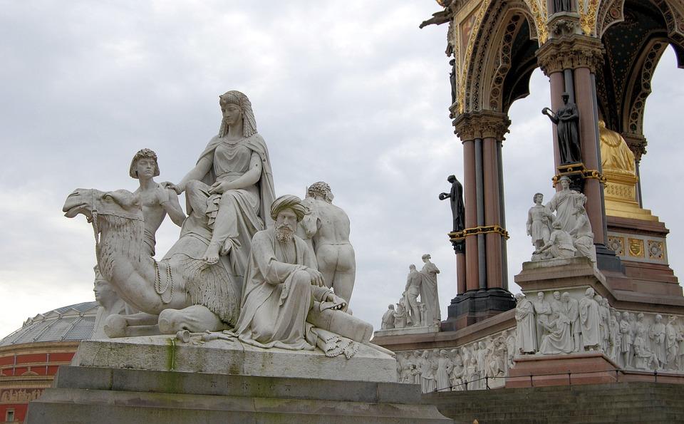 Albert Memorial, Kensington Gardens, London, Statue