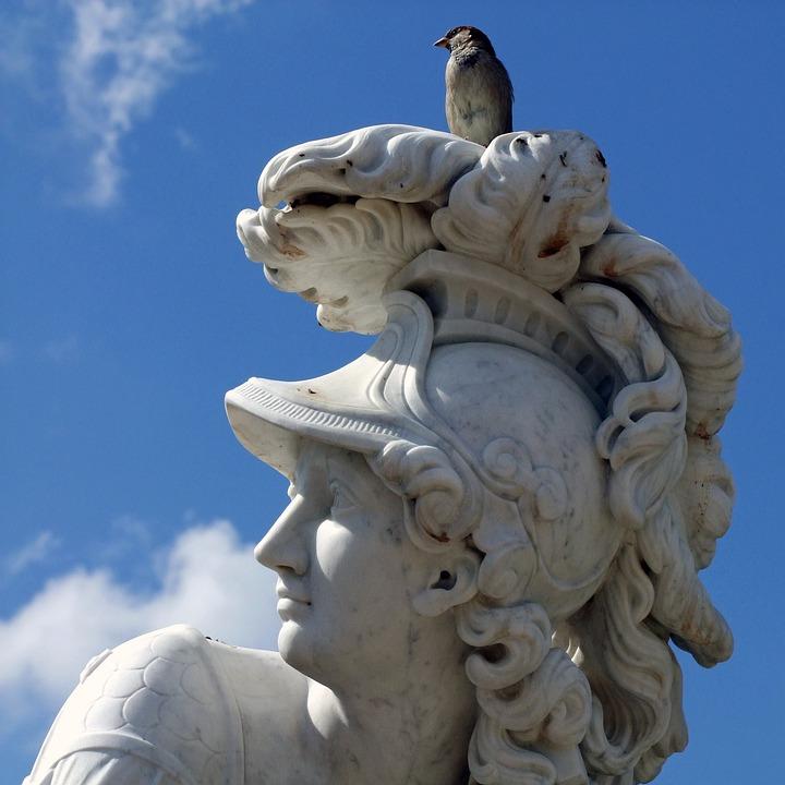Sculpture, Statue, Park Sanssouci, Minerva