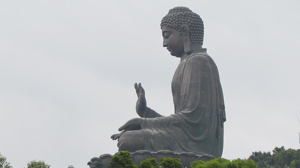 Buddha, Hong Kong Buddha, Hong Kong, Statue, Monument