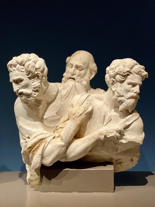 Sculpture, Museum, Art, Statue, Figure, Thinker, Man