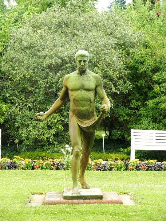 The Statue, Statue, Male, Torso, Naked, Nudity