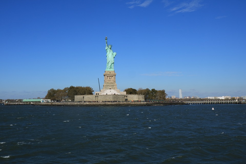Usa, New York, Places Of Interest, Statue Of Liberty