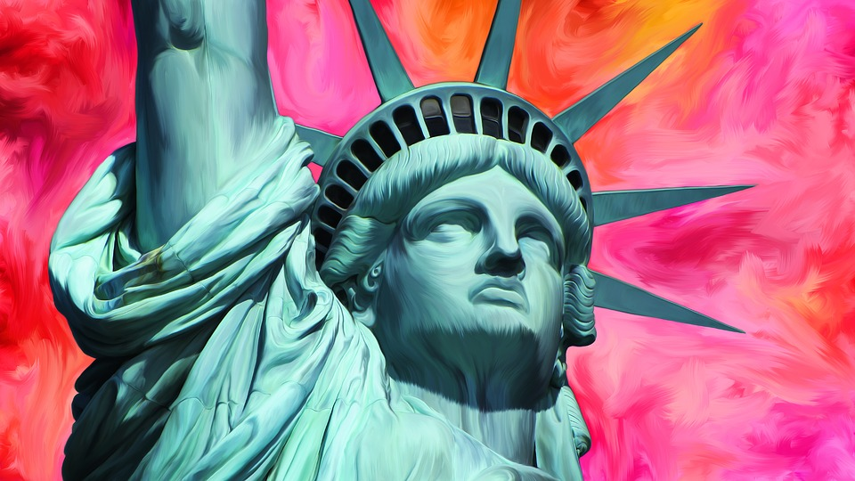 Statue Of Liberty, New York, Smudgepainting