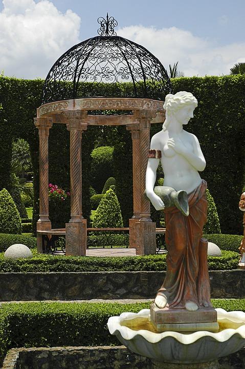 Statue, Pavilion, Park, Thailand