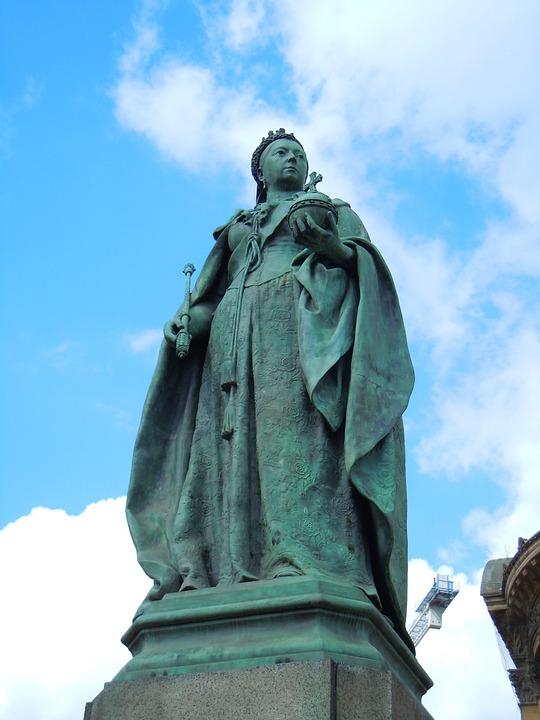 Statue, Monument, Birmingham, Queen, Victoria