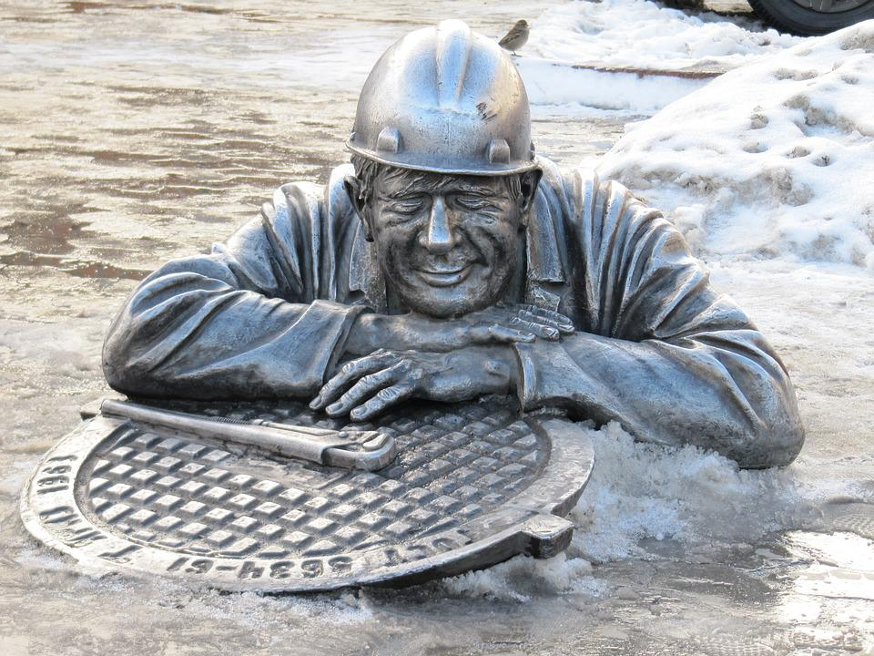 Russia, Omsk, Channel, Bust, Statue, Sculpture, Figure