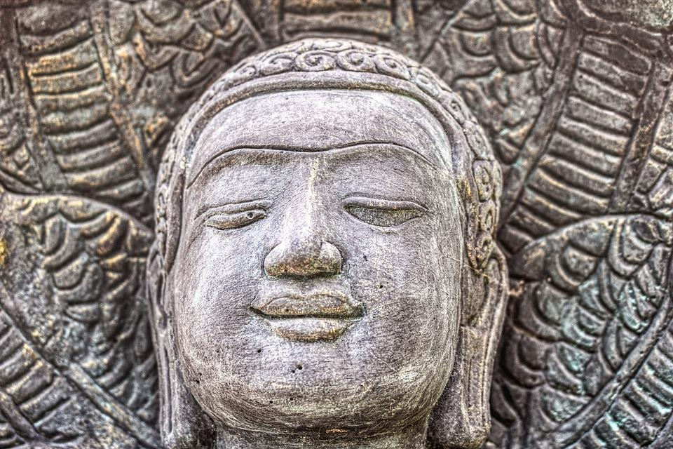 Buddha, Face, Head, Statue, Sculpture, Art, Meditation