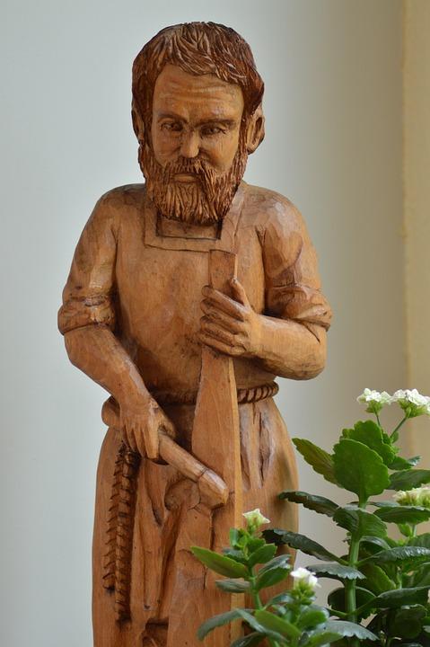 Statue, Wood, Carpenter, Sculpture, Man, Joseph