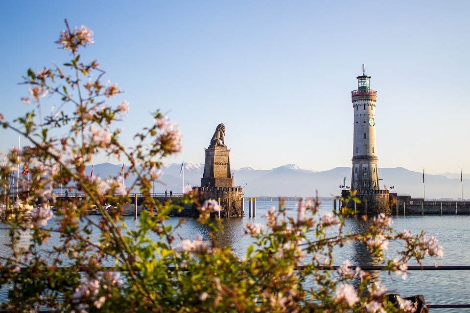 Lighthouse, Statue, Port, Lindau, Sculpture
