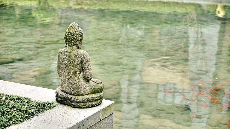 Buddha, Statue, Pond, Sculpture, Buddha Statue