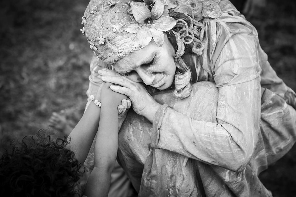 Mother, Sculpture, Love, Statue, Pray, Religious