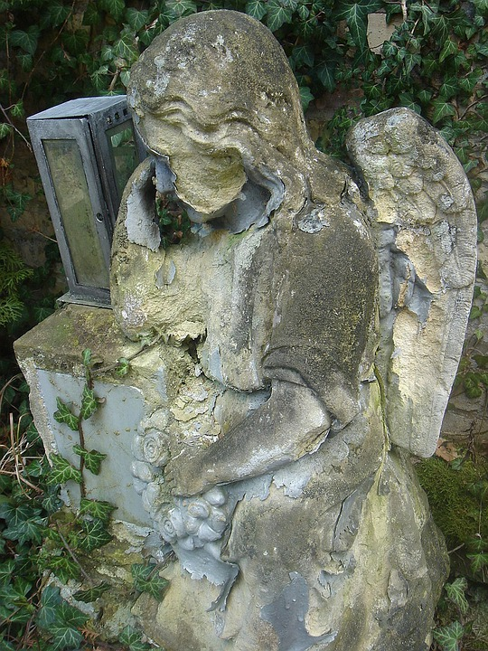 Statue, Angel, Stone, Death, Sadness