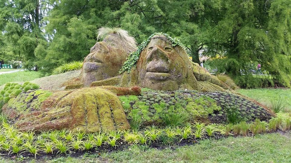 Figures, Nature, Moss, Statue, Stone Figure