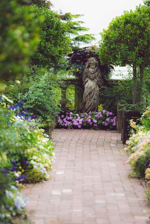 Statue, Path, Park, Landscape, Nature, Sculpture, Stone