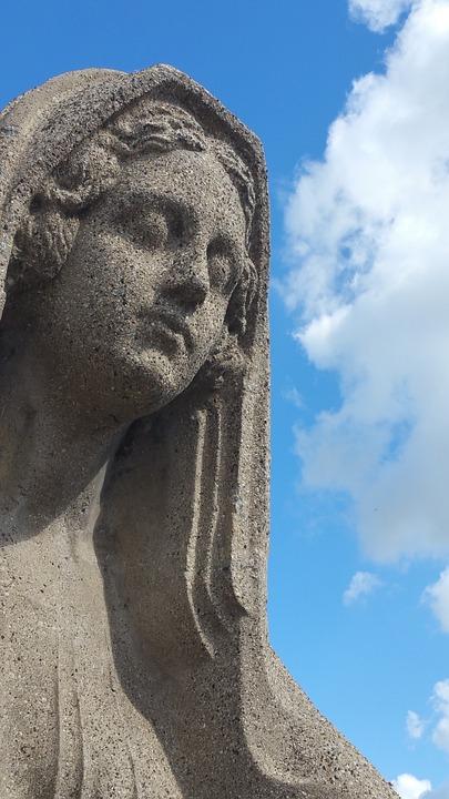 Statue, Sky, Stone