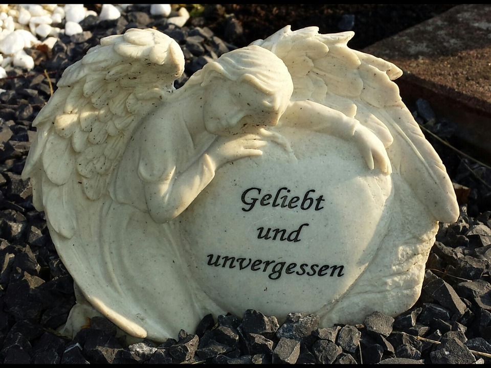 Angel, Cemetery, Grave, Statue, Mourning, Tombstone