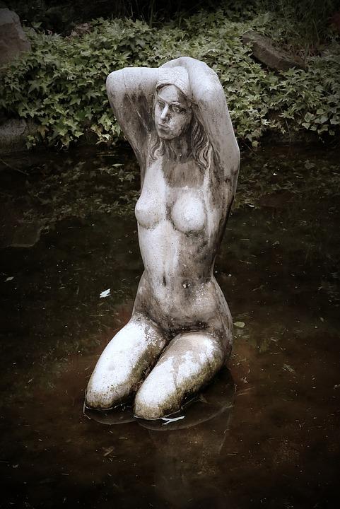 Statue, Woman, Art, Decoration, Sculpture, Statua