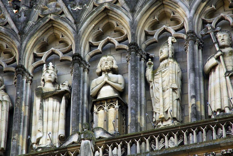 Reims, Cathedral, Sculptures, Statues, Gallery Of Kings