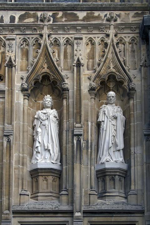 Cathedral, Canterbury, Statues, Queen Elisabeth