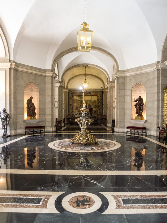 Palace, Statues, Armor, Architecture, Madrid, Marble