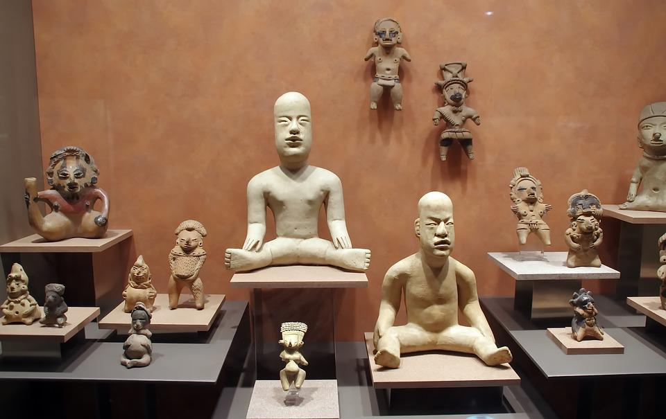 Mexico, Anthropological Museum, Statues, Divinities