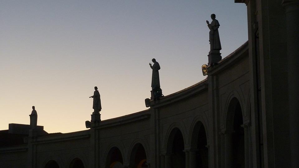 Statues, Silhouette, Building, Architecture, Fatima