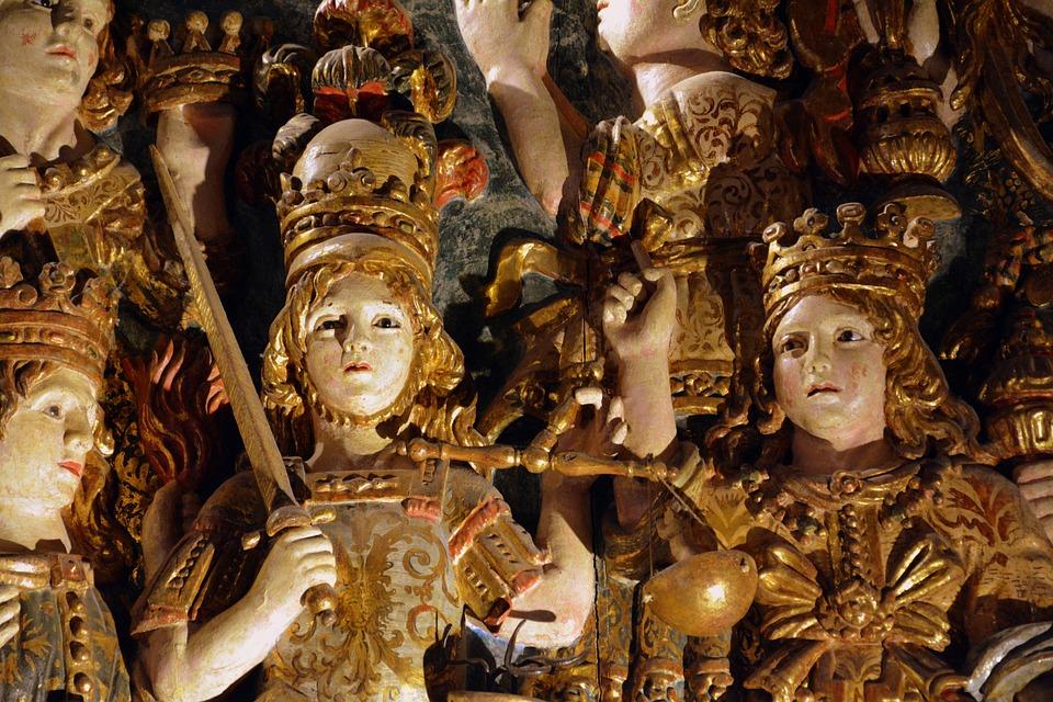 Statues, Warriors, Sword, Statue