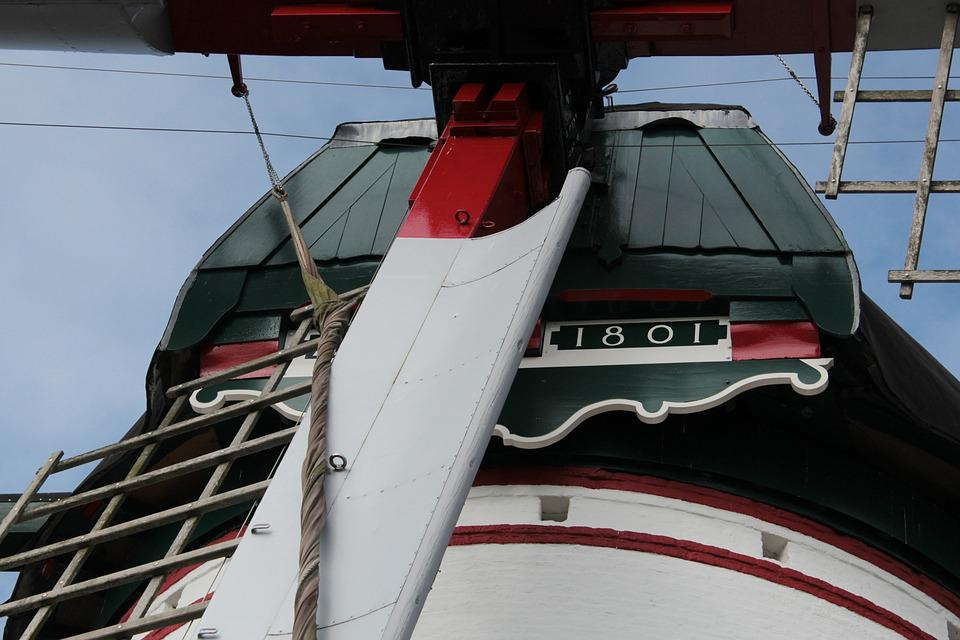 Detail Windmill, Mill, Zealand, Stavenisse, Old