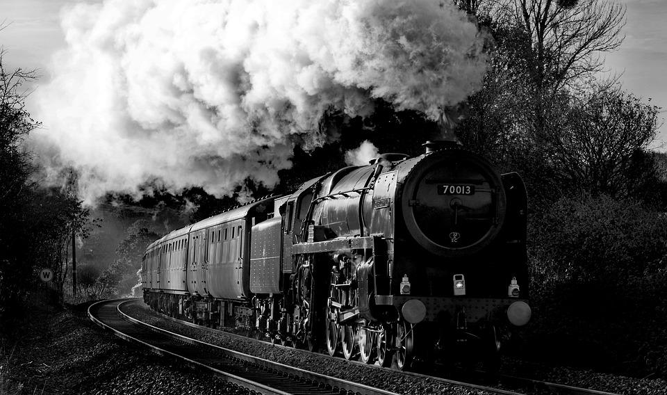 Steam Engine, Oliver Cromwell, Railway