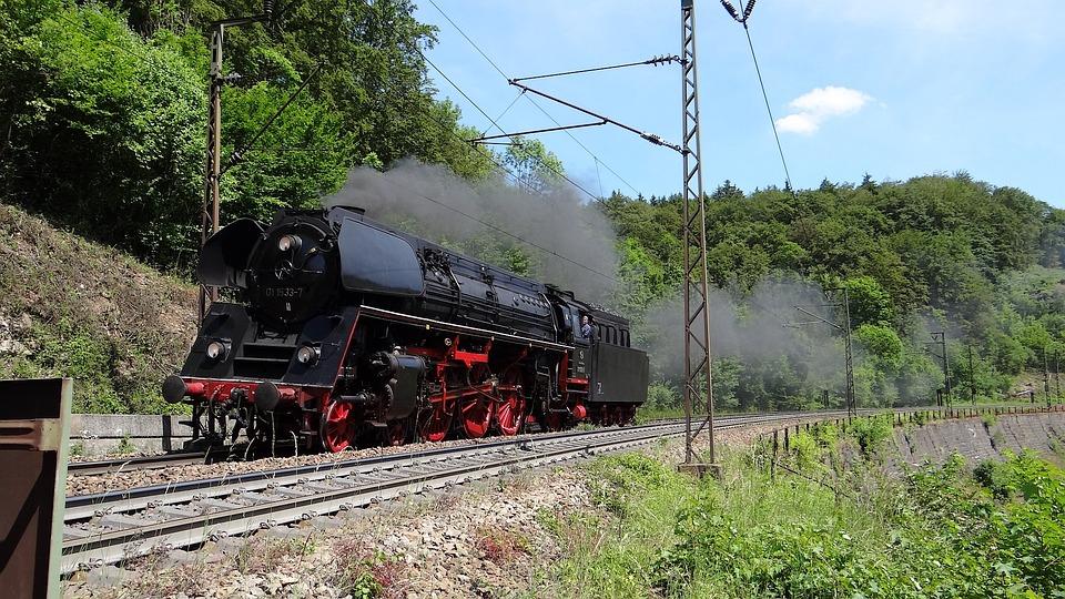 Br 01, Steam Locomotive, Geislingen-climb