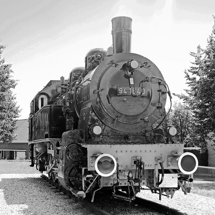 Steam Locomotive, Monochrome, Historically