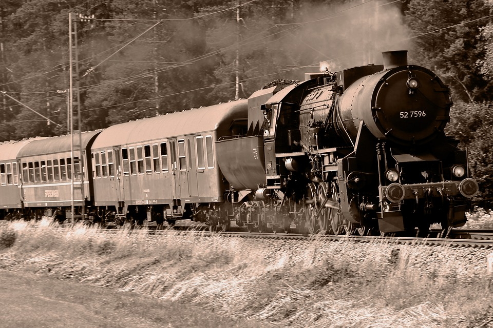 Steam Locomotive, Train, Railway