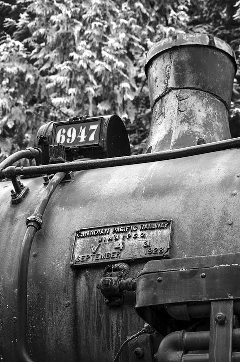 Train, Locomotive, Engine, Diesel, Steam, Boiler, Metal