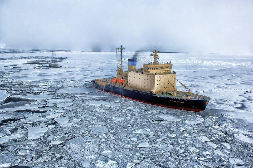 Sea, Ship, Ice, Steamship, Steamer, Ocean, Water
