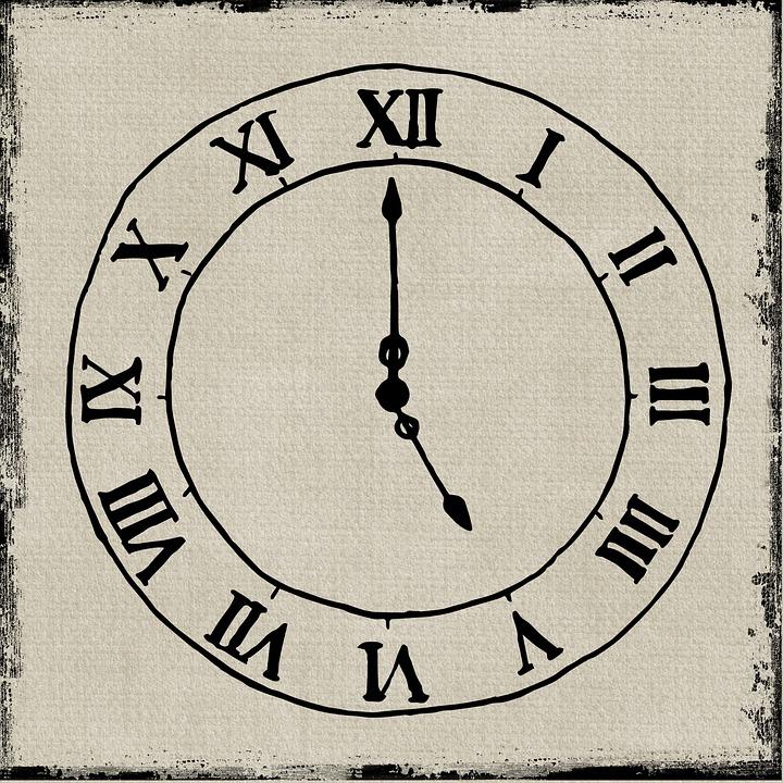 clock time wall clock steampunk bones skeleton