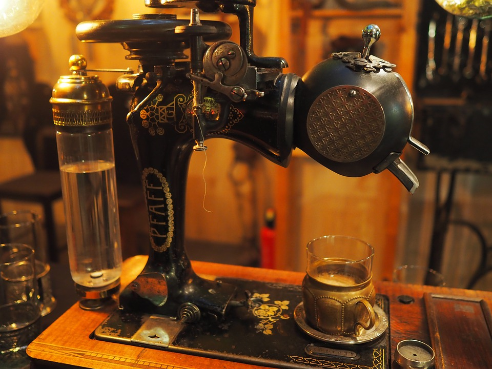 Drink, Bar, Old, Steampunk