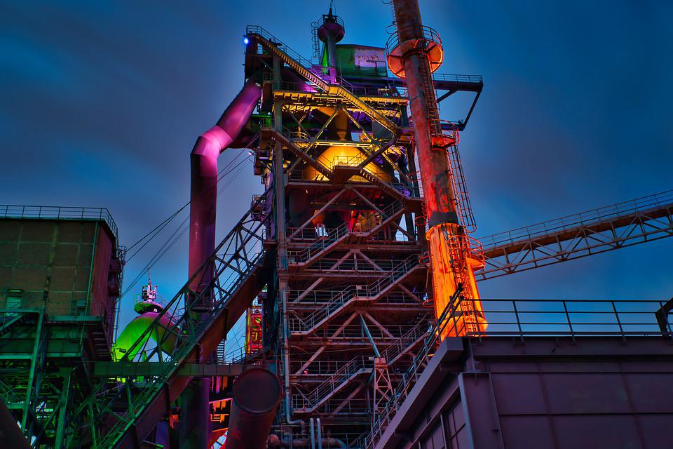 Steel, Industry, Ruhr Area, Architecture, Building