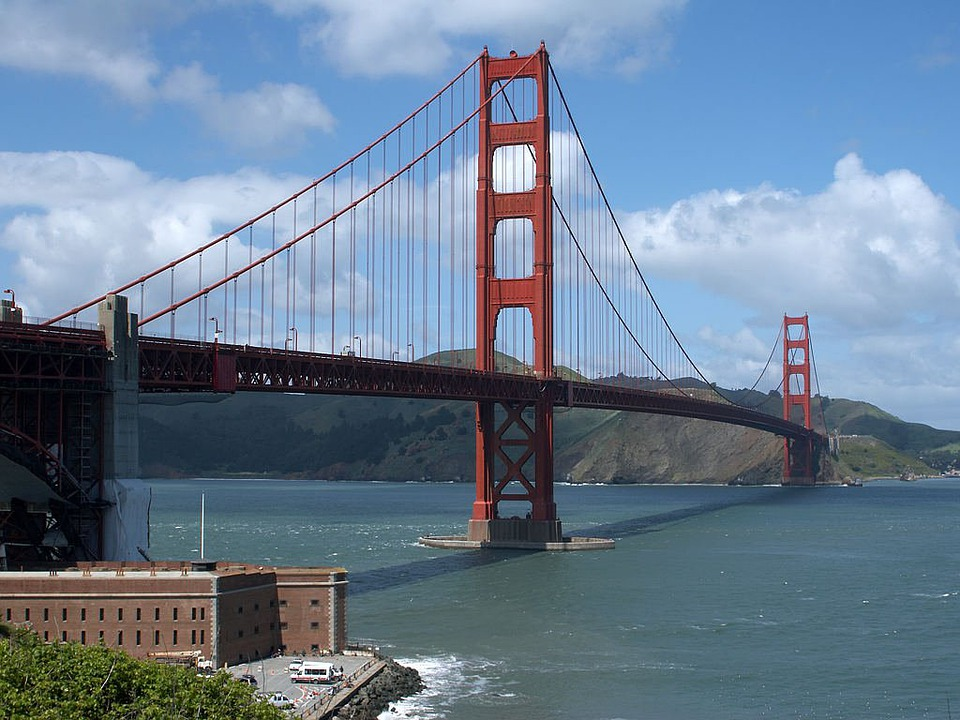Golden Gate Bridge, Suspension Bridge, Steel Cables