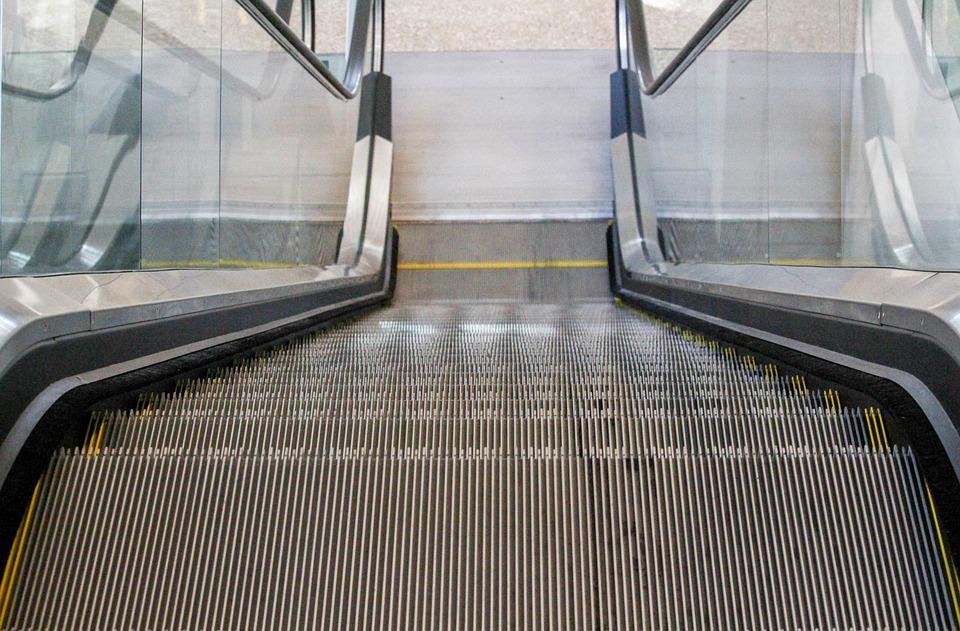 Step, Escalator, Steel, Handrail, Transportation System