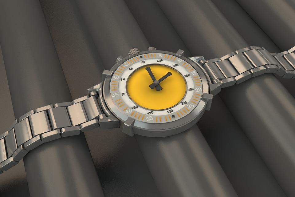 Clock, 3d Modeling, Steel, Industry, Technology
