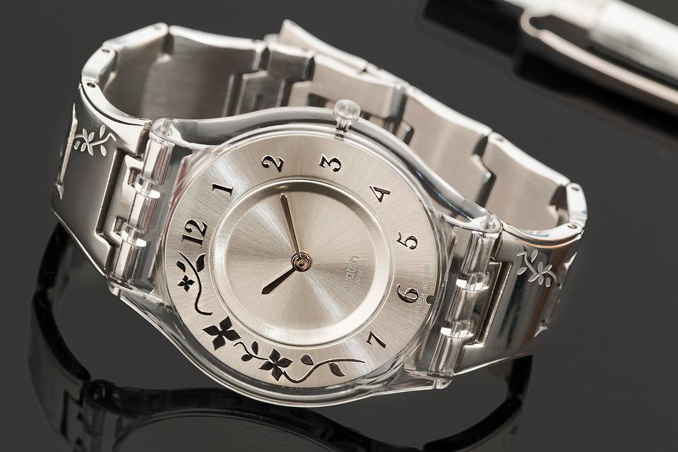 Swatch Watch, Wristwatch, Time, Watch, Steel, Bracelet