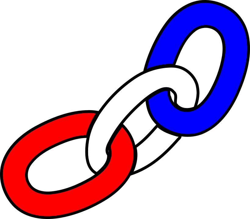 Links, Chain, Red, White, Blue, Metal, Industry, Steel
