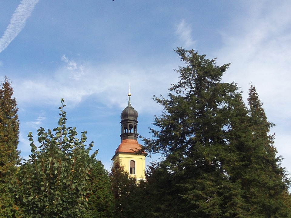Church, Large Schönau, Steeple, Architecture, Building