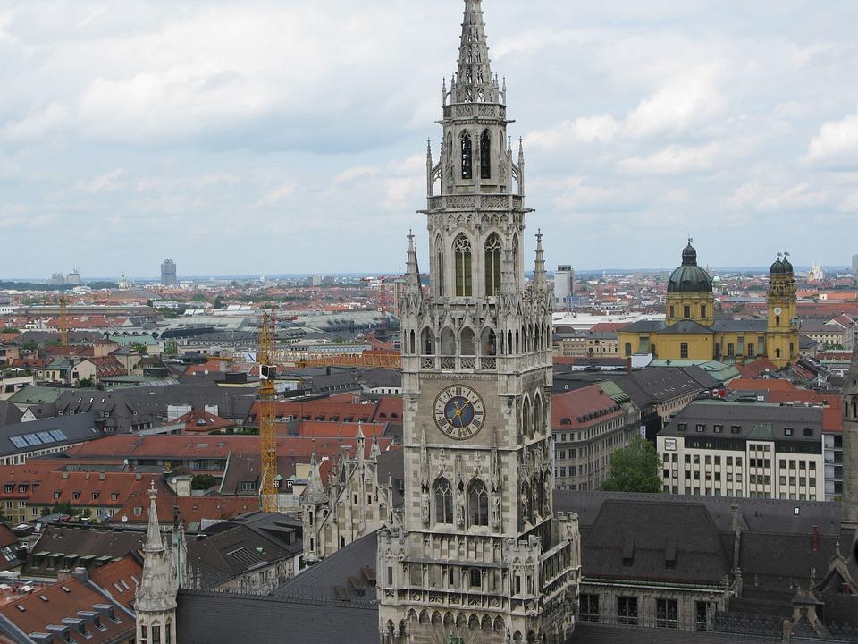 Munich, Steeple, Church, City