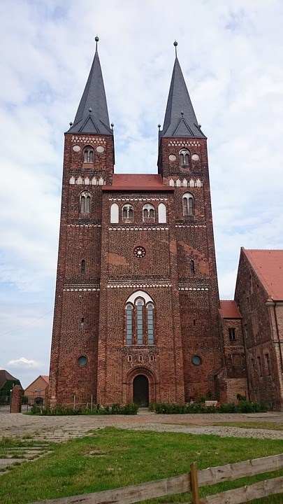 Church, Monastery, Romanesque, Steeple
