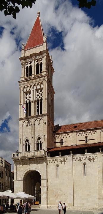 Trogir, Croatia, Steeple, Unesco, Church, Old Town