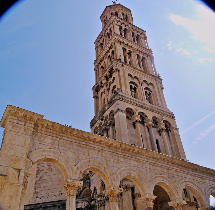 Dioakletianpalast, Steeple, Croatia, Split, Church