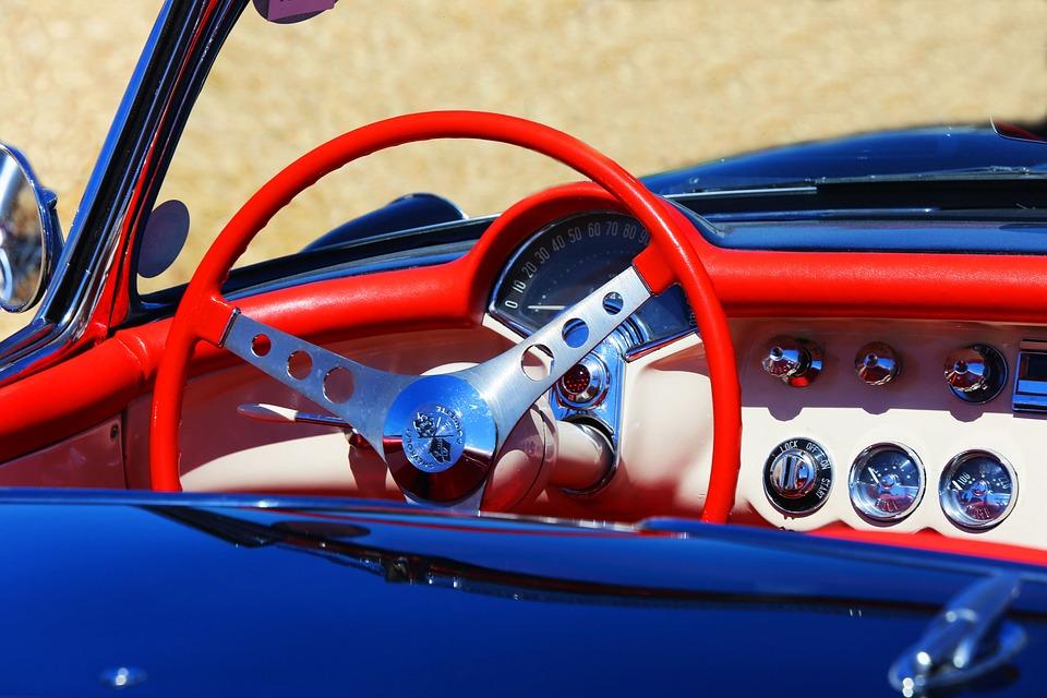 Corvette, Car, Steering Wheel
