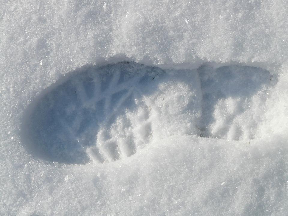 Foot, Footprint, Step, Winter, Reprint, Deep Snow, Snow