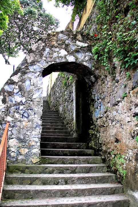 Stairs, Wall, Step, Upload, Stone, Path, Orizaba